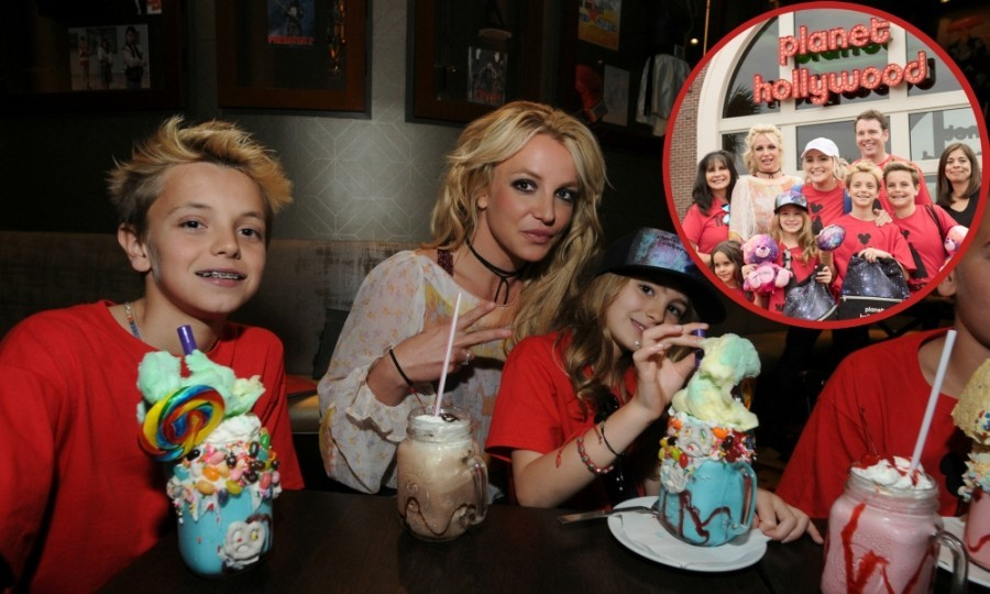 March 13: Sweet Spears! Britney Spears was on hand to celebrate Planet Hollywood's new location at Disney Springs in Florida. The superstar held a meet and greet with fans at the restaurant, taking tons of selfies. Britney brought her family along for the occasion, including: her two sons Sean and Jayden, her mom Lynne, her sister Jamie Lynn and her niece Maddie. 