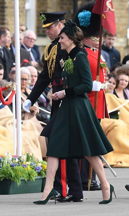 Kate made a welcome return to the parade after missing the celebrations in 2016 for the first time since she became a member of the royal family.