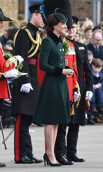 Duchess Kate's St Patrick's Day style was right on point in her Catherine Walker custom coat. 