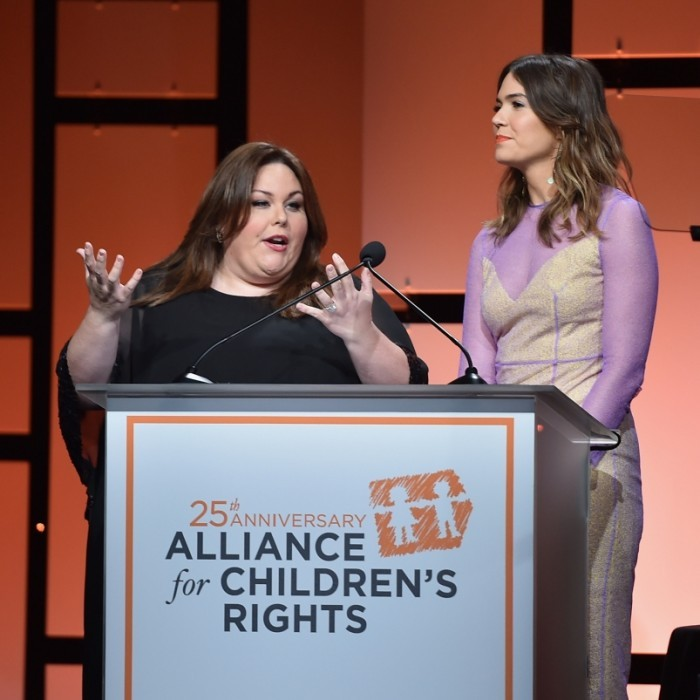 March 16: Chrissy Metz and Mandy Moore stepped out for a good cause! The <i>This Is Us</i> co-stars helped to host the Alliance for Children's Rights 25th Anniversary Celebration at the Beverly Hilton Hotel in Beverly Hills, California. 
