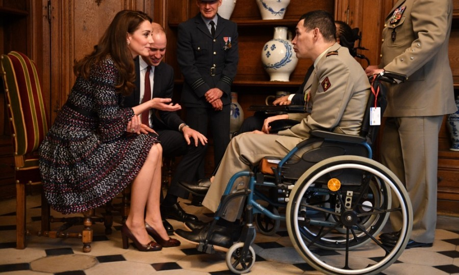 They also learned how Les Invalides is helping wounded veterans, who are being treated on site.