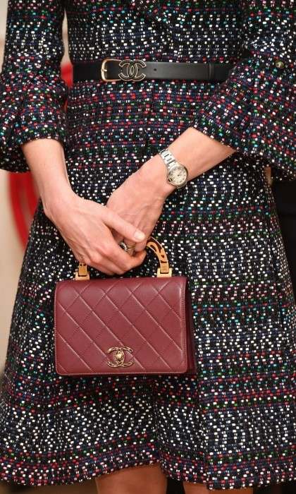 Kate perfected the look with her Chanel belt and clutch.