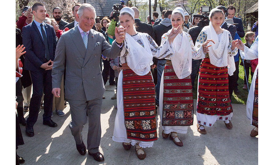 In March 2017, Prince Charles got into the groove with Romanian dancers at a village museum in Bucharest.