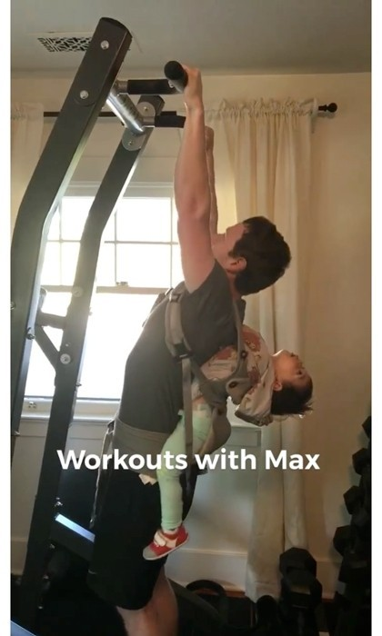 "Mark Zuckerberg spent some unique quality time with his daughter Max. The Facebook Founder <a href=""https://www.facebook.com/zuck/videos/10103608775302161/""><strong>shared a video of himself</strong></a> doing pull-ups with his little girl strapped on his back. In the comments section of the workout clip, the CEO revealed, ""As soon as I finish [Max] yells ""More! More!"" Easily the most demanding trainer I've ever had.""