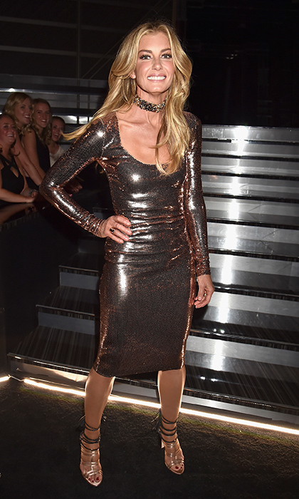 April 2: Faith Hill was sizzling in a metallic dress and heels at the 52nd Academy Of Country Music Awards at T-Mobile Arena in Las Vegas.