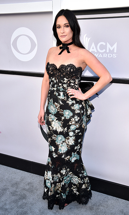 April 2: Kacey Musgraves set off her lace and floral gown with a ribbon choker at the 52nd Academy Of Country Music Awards in Las Vegas.