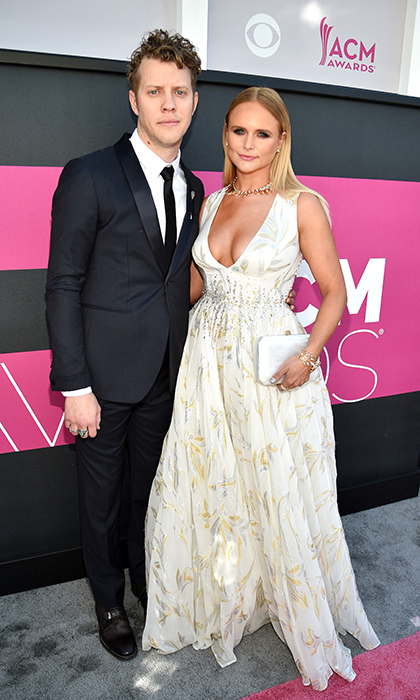 April 2: One year after they made their red carpet debut, Miranda Lambert and Anderson East stepped out for the 52nd Academy Of Country Music Awards in Las Vegas, Nevada.