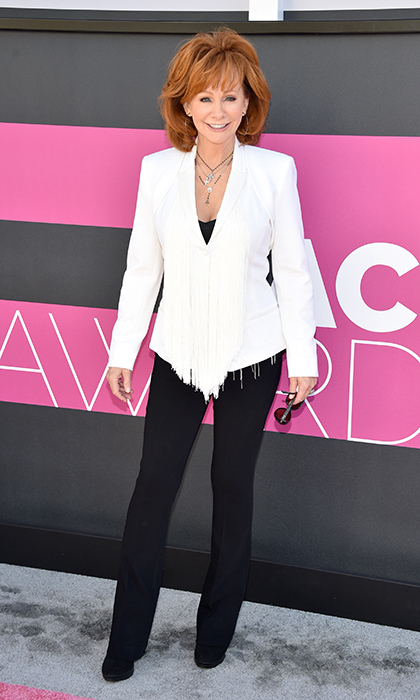 April 2: Music legend Reba McEntire rocked a pantsuit at the 52nd Academy Of Country Music Awards in Las Vegas. 