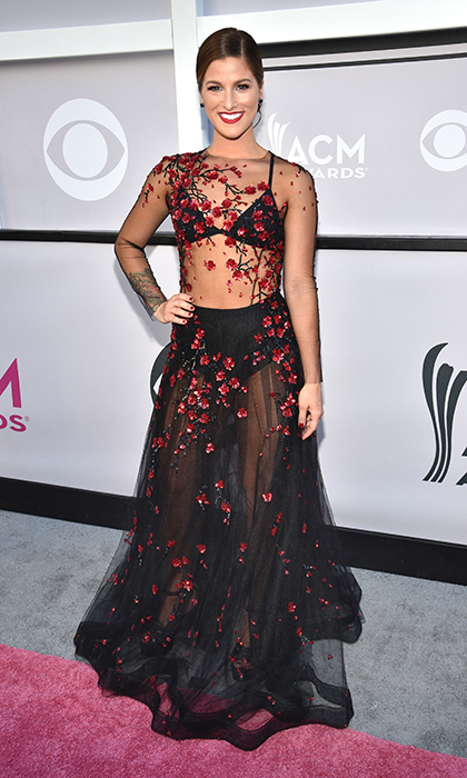 April 2: Cassadee Pope went for a daring look by Yanina Couture at the 52nd Academy Of Country Music Awards in Las Vegas.