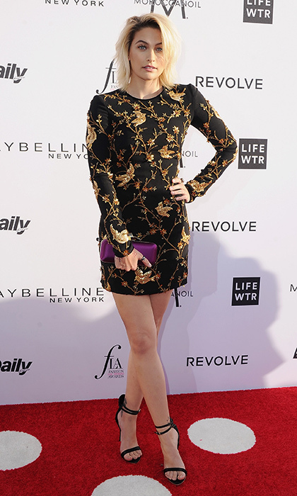 April 2: Fashion's new It girl Paris Jackson hit the red carpet at the Daily Front Row's 3rd Annual Fashion Los Angeles Awards at the Sunset Tower Hotel. 