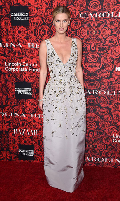 Nicky exuded princess glamour in Carolina Herrera at a New York event honoring the designer in December 2016.