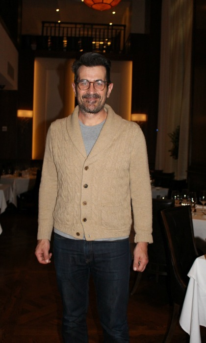 March 29: <i>Modern Family's</i> Ty Burrell enjoyed a quiet evening at Benjamin Prime in NYC with his wife and a friend over some wine, a porterhouse for three and the restaurant's signature creamless creamed spinach and roasted brussels sprouts. 