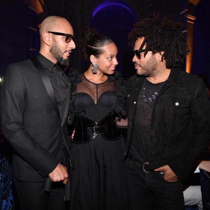 April 3: Date night! Alicia Keys and her husband Swizz Beatz were honored together at the 2017 Brooklyn Artists Ball in New York City. The power couple looked smitten, especially when they saw Lenny Kravitz. Alicia and Swizz were honored for their groundbreaking creativity, support of the arts, and dedication to making the world a better and more beautiful place.
