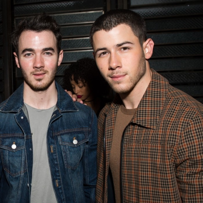 April 5: Bro time! Nick Jonas celebrated his <i>Los Angeles Confidential</i> magazine cover with his older brother Kevin in L.A. The private dinner at Catch LA also honored a collaboration with Creative Recreation & Don Julio 1942.  
