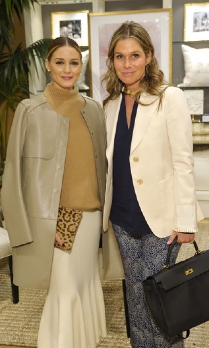 April 6: Aerin Lauder posed with Olivia Palermo at a breakfast launch of the AERIN by Williams Sonoma collection. The event, which was held at the Columbus Circle Williams Sonoma in New York City, marked Williams Sonoma's first home décor collaboration in its 60-year history with luxury lifestyle brand AERIN. 