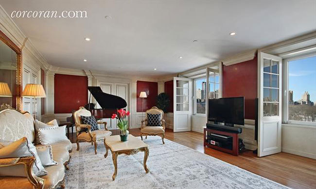 Another feature of the apartment is a grand piano once owned by David.