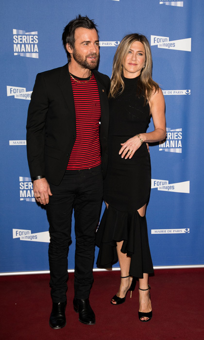 April 13: Jennifer Aniston and Justin Theroux kept the style streak going in Paris as they attend the 'Series Mania Festival' opening night at Le Grand Rex.