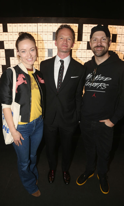 April 12: Olivia Wilde and Jason Sudeikis supported pal Neil Patrick Harris at the opening night of his play <i>In and Of Itself</i>, which he executive produced in NYC.