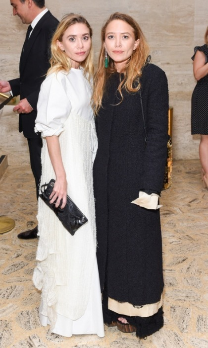"April 13: Ashley and Mary-Kate Olsen enjoyed a night of dinner and dancing during the Youth America Grand Prix's ""Stars of Today Meet the Stars of Tomorrow' Gala"" at Lincoln Center. The duo were joined by Mary-Kate's husband Olivier Sarkozy, Chelsea Clinton, Nicky Hilton and others.