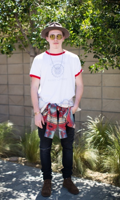 April 14: Brooklyn Beckham celebrated House of Harlow 1960 x REVOLVE Spring 17 Collection with a special festival brunch hosted by Nicole Richie. 