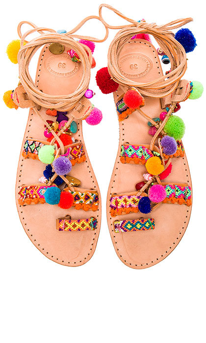 Elina Linardaki's creations are all made by artisans in Greece. Keep the rest of your outfit simple and let these cool sandals do all the talking – and walking!