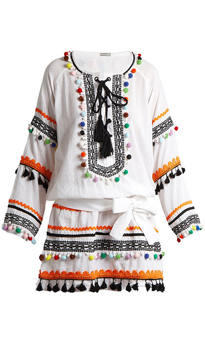 Go boho with this gorgeous white cotton dress by Dodo Bar Or. The statement making piece would look great with a simple pair of strappy sandals. 