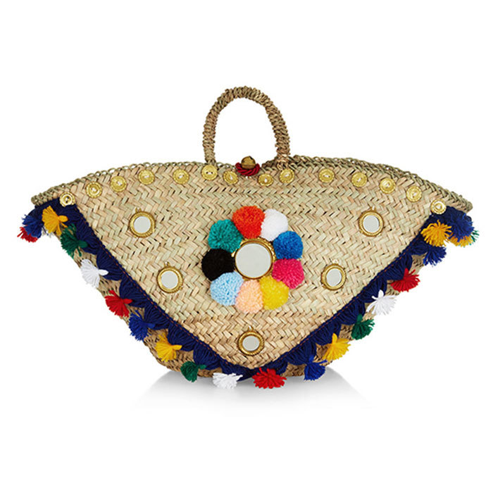 Here's an investment piece that will take you through summer 2017 and beyond. This straw basket bag from Monaco royal Tatiana Santo Domingo's eco-chic label is great for beach essentials or just looking good on the boardwalk. 