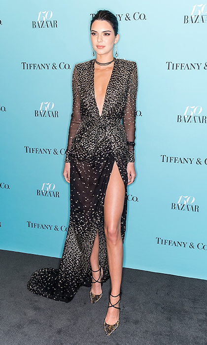 April 19: Kendall Jenner hit the red carpet wearing Redemption at the Harper's BAZAAR 150th Anniversary Event presented with Tiffany & Co at The Rainbow Room. 