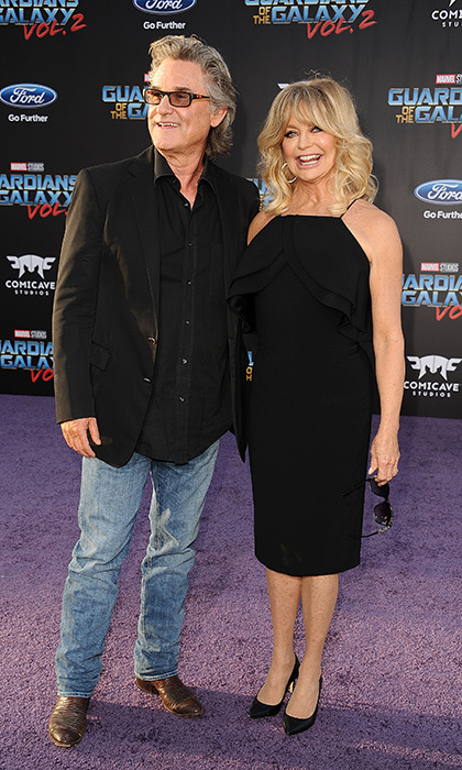 April 19: Hollywood couple Kurt Russell and Goldie Hawn matched in classic black for the the premiere of <i>Guardians of the Galaxy Vol. 2</i> at Dolby Theatre in Hollywood.