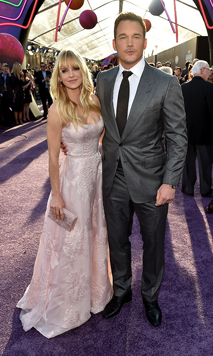 April 19: Chris Pratt arrived with his Marchesa-clad wife Anna Faris for the premiere of Disney and Marvel's <i>Guardians Of The Galaxy Vol. 2</i> at Dolby Theatre in Hollywood, California. 