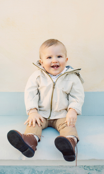 For his first birthday portraits, Prince Carl Philip and Princess Sofia opted for a combination of professional shots and photos taken by his dad. In this photo, the one-year-old, who celebrated his big day on April 19, 2017, flashed a toothy grin. 
