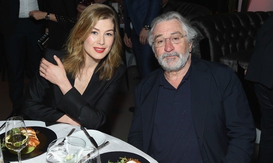 Rosamund Pike and Robert De Niro attended the exclusive gala event For the Love of Cinema sponsored by IWC Schaffhausen.
