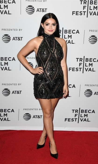 Ariel Winter bedazzled in a black dress during the premiere of <i>Dog Years</i>.