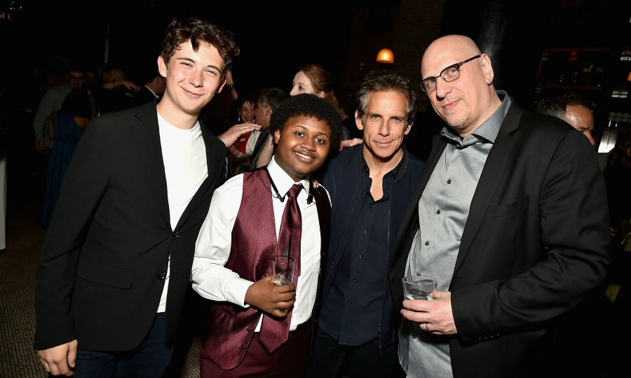 Party boys! Seamus Davey-Fitzpatrick, Miles J. Harvey, Ben Stiller and director Oren Moverman attended the 2017 Tribeca Film Festival after-party for their film <i>The Dinner</i> sponsored by Nespresso at White Street.