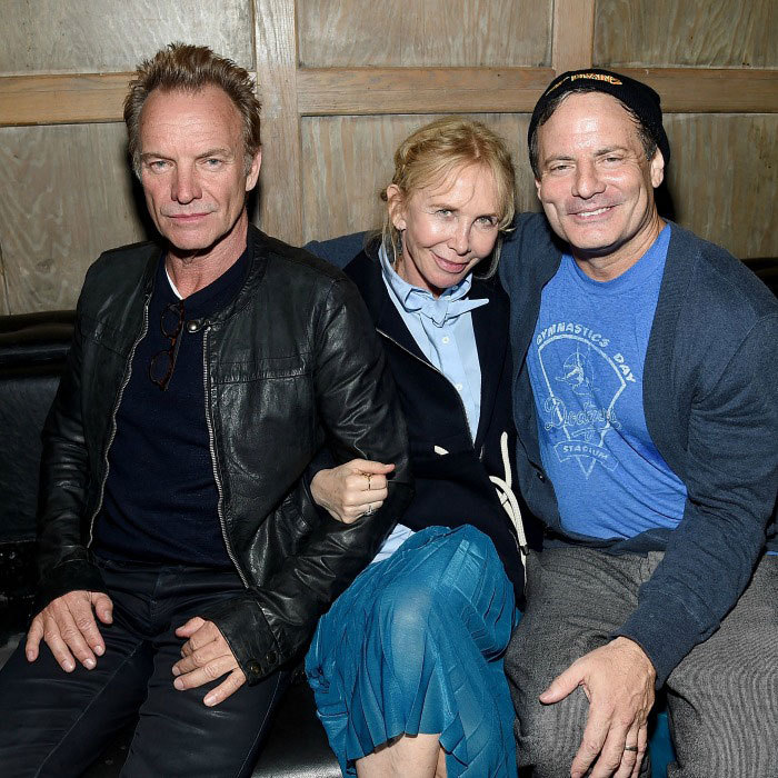 Sting,Trudie Styler and writer/director Dito Montiel attended the 2017 Tribeca Film Festival party for <i>The Clapper</i> presented by EFFEN vodka at Avenue.