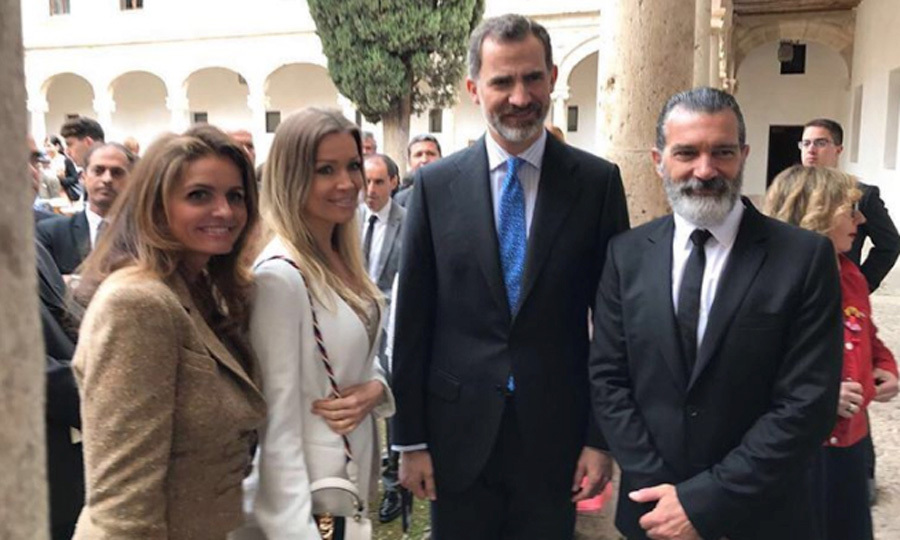 "The King of Spain met Zorro this week. Queen Letizia's husband, Felipe, honored the Hollywood star Antonio Banderas, who is originally from Málaga, Spain, with the Franklin Institute's ""Camino Real"" award on Wednesday, April 26 at the Alcala de Henares University in Madrid. The prestigious award recognizes the professional work of Spaniards who project and enhance a positive image of Spain in the United States.