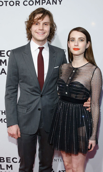 Evan Peters had the support of love Emma Roberts at the premiere of his film <i>Dabka</i>. After, the couple were joined by Molly Ringwald at the after-party at The Edition Hotel sponsored by Tanqueray.
