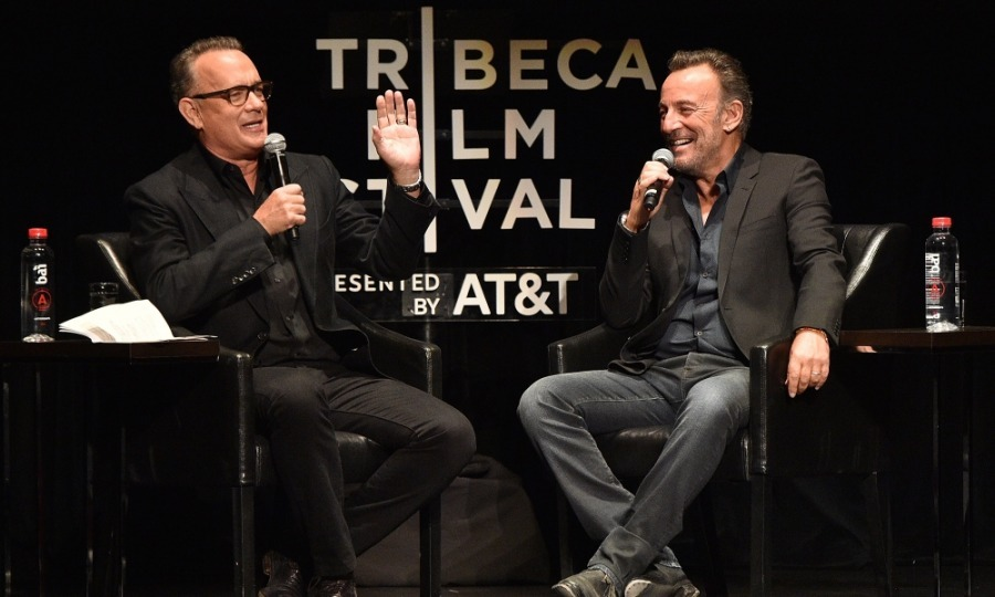 A legendary duo! The excitement in the Beacon Theatre was palbable when Tom Hanks interviewed Bruce Springsteen for <i>Tribeca Talks: Storytellers</i>. Tom and Bruce had a blast talking before the large crowd, which included: Tom's wife, Rita Wilson, and Bruce's wife Patti Scialfa. Former first daughter Malia Obama was also seen sitting in the audience with a friend.