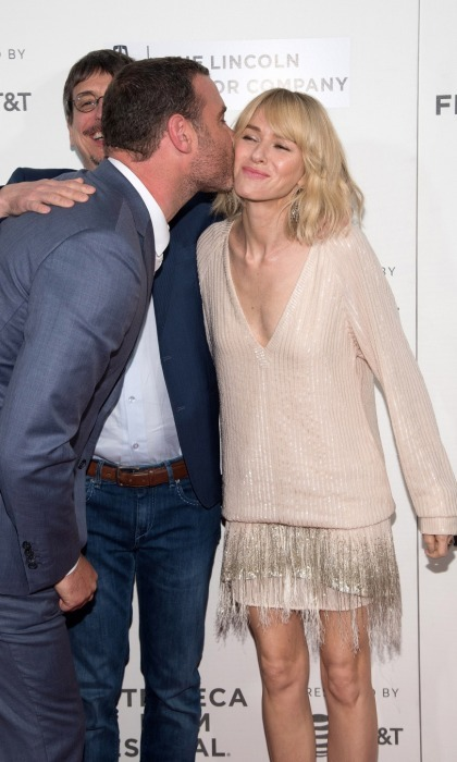 Nothing but love! Liev Schreiber planted a sweet kiss on Naomi Watts at the <i>Chuck</i> screening at BMCC Tribeca PAC. The pair proved to be friendly ex-lovers as they were all smiles on the carpet.