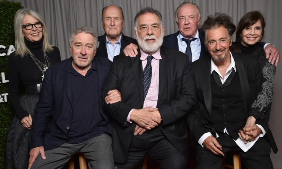 An offer they couldn't refuse! Diane Keaton, Robert De Niro, Robert Duvall, Francis Ford Coppola, James Caan, Al Pacino and Talia Shire gathered for <i>The Godfather</i> 45th Anniversary Screening (followed by <i>The Godfather: Part II</i>) and reunion during 2017 TFF's closing night at Radio City Music Hall. The sold-out audience was filled with famous fans including: Leonardo DiCaprio, Mayor Bill De Blasio, Peter Fonda, Alessandro Nivola, Whoopi Goldberg, Julian Schnabel, as well as family members Robert Schwartzman and Sofia Coppola. 