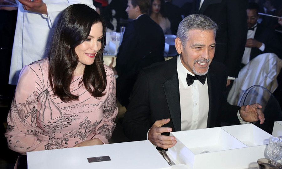 April 26: George Clooney and Liv Tyler were treated to a performance by ESKA, who gave a stunning rendition of David Bowie's classic song <i>Space Oddity</i> to wrap the Omega's 60th anniversary of the Speedmaster at the Tate Modern in London.
