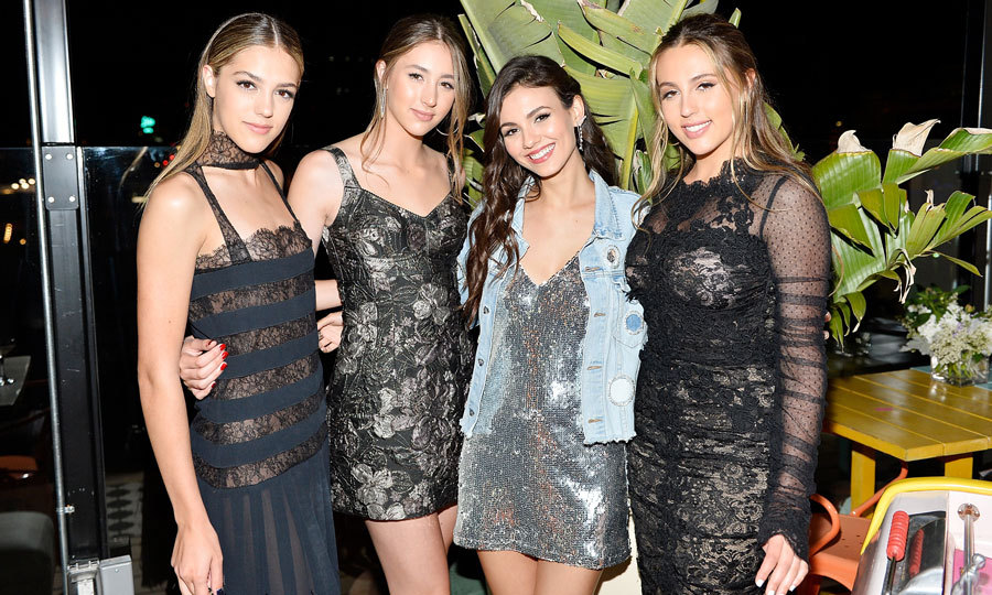 April 26: Is there a fourth Stallone sister?! Victoria Justice celebrated Sistine, Scarlet and Sophia's Harper's BAZAAR cover presented by Sephora at Mama Shelter in L.A.
