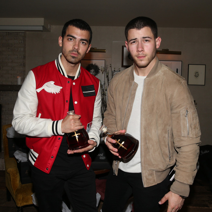 April 25: It's going up on a Tuesday! Nick and Joe Jonas hosted a dinner party in NYC with D'USSE.