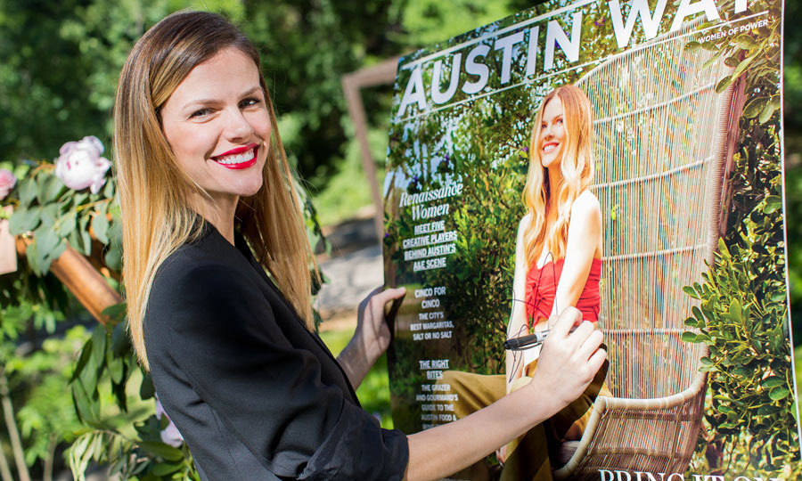 April 30: Brooklyn Decker was a ray of sunshine at her Austin Way cover party at the Umlauf Sculpture Garden.
