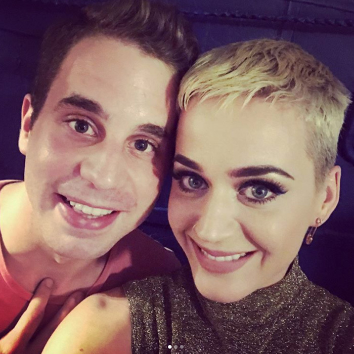 "April 29: Katy Perry snapped a selfie with <i>Dear Evan Hansen</i> star Ben Platt after the singer saw the Tony-nominated Broadway play. Along with the close-up, the <i>Bon Appetite</i> singer wrote, ""Last night I witnessed the most connective play on Broadway I have ever seen called ""Dear Evan Hansen"" played by the brilliant @bensplatt. The whole cast was phenomenal and deliver such an incredible experience, some would call it a healing. Bravo. ❤""