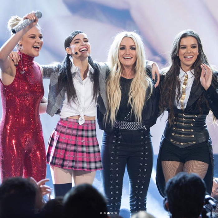 April 29: Kelsea Ballerini, Sofia Carson, Hailee Steinfeld and Jamie Lynn Spears took the stage at the Radio Disney Awards to honor Britney Spears with the Icon Award.