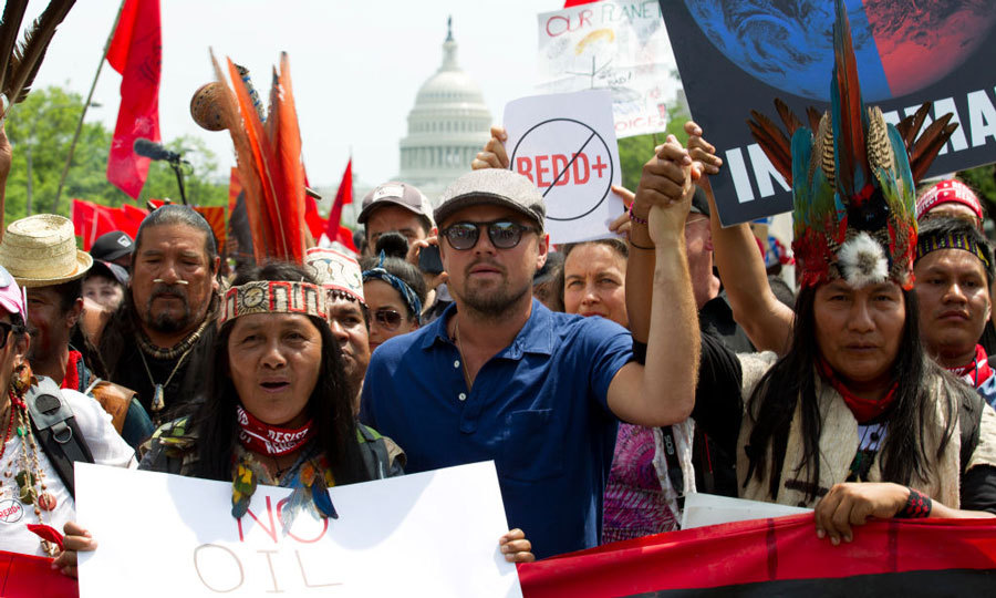 "April 29: Leonardo DiCaprio was front and center during the People's Climate March in Washington, D.C. The actor and activist shared on Instagram, ""Today's #ClimateMarch leaves me inspired and hopeful for our future on this planet. We must continue to work together and fight for #climatejustice. The time is now.""