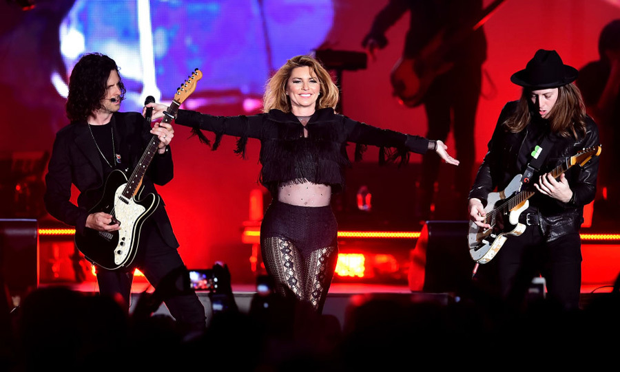 April 29: Shania Twain debuted her new single <i>Life's About to Get Good</i> during Stagecoach in Indio, California.
