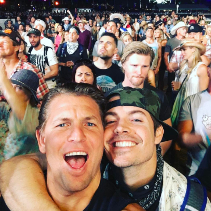 April 28: <i>The Arrangement</i> actor Josh Henderson, who is from Texas, ventured to the desert with friends for the weekend to take in some country music at the Stagecoach Festival.