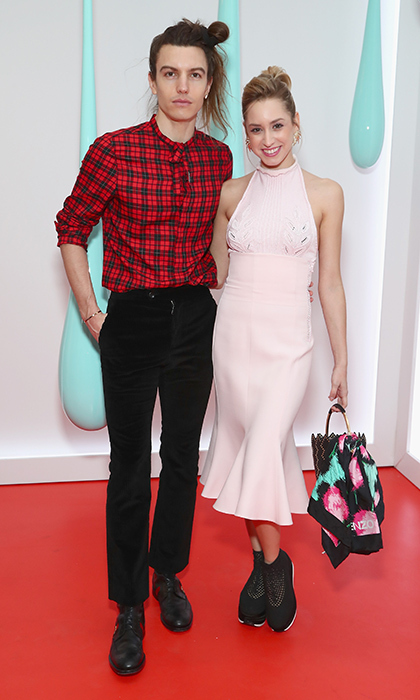 Prince Albert of Monaco's daughter Jazmin Grace Grimaldi stepped out in a pink halter midi dress with boyfriend Ian Mellencamp for the launch of the Burberry DK88 Bag hosted by Christopher Bailey at Burberry Soho in New York City.